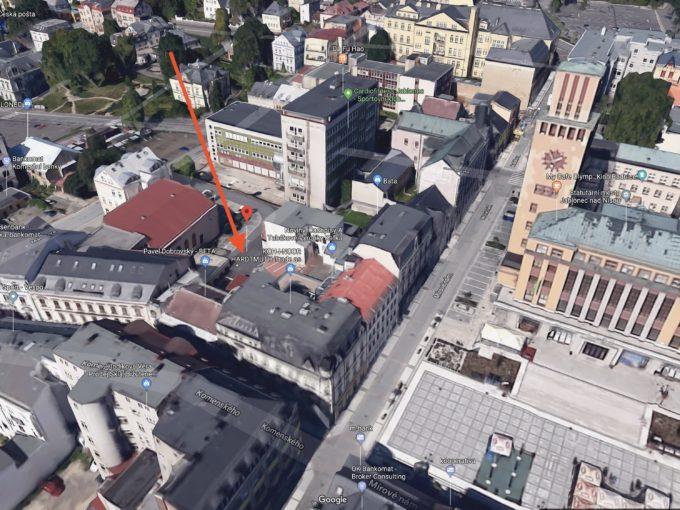 Pronájem parkovacího stání v centru Jablonce nad Nisou