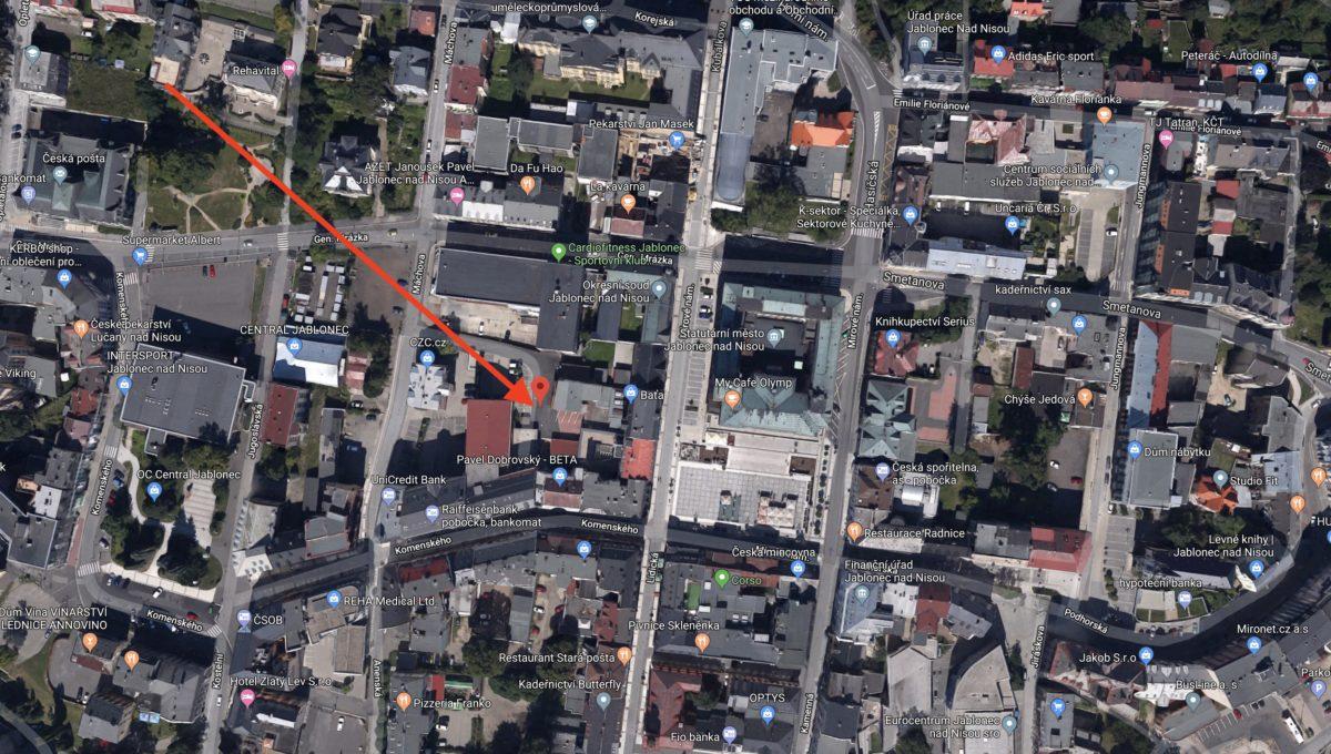 Parkovací místa HP - satelitní fotka 2
